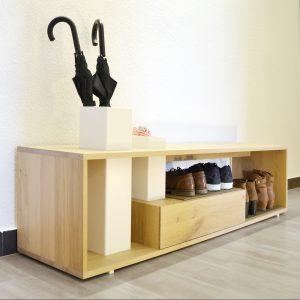 Sitzbank StepPlus, verschiedene Holzarten / Bench StepPlus, different Types of wood