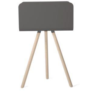 Ablagemöbel TRi mit Bein - Schwarz Esche