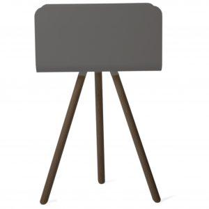 Ablagemöbel TRi mit Bein - Schwarz Esche Schwarz
